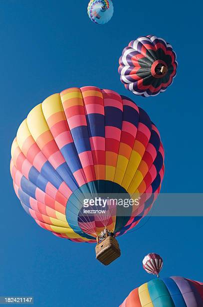 Colorful Hot Air Balloons Taking Off Overhead