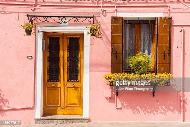 A colorful house on Burano, Venice.