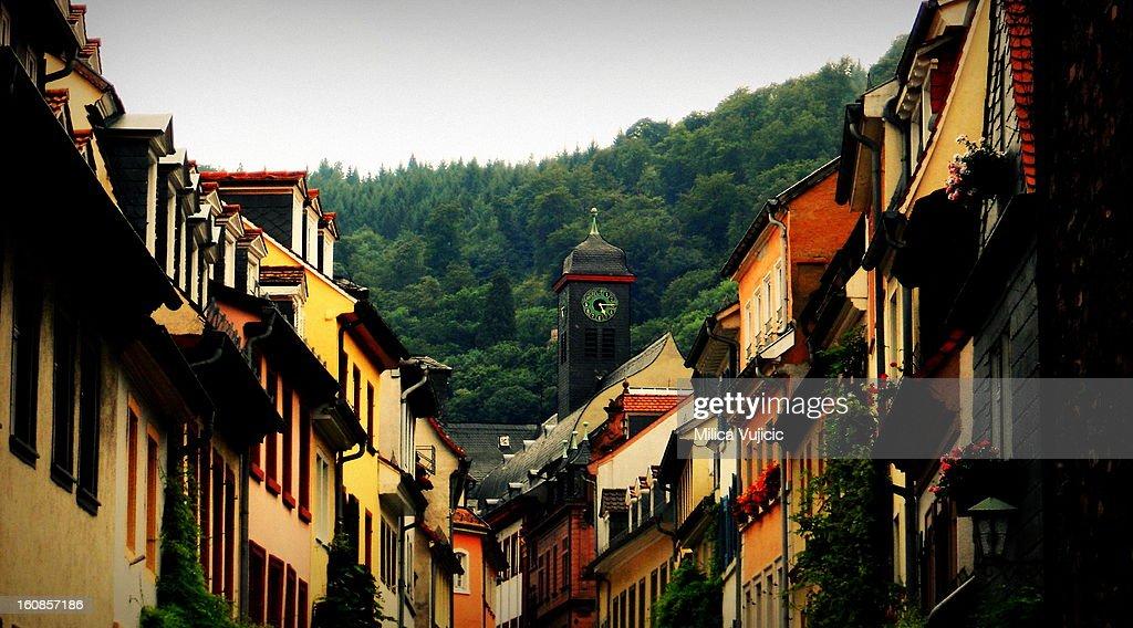 Colorful Houses of Heidelberg : Stock Photo