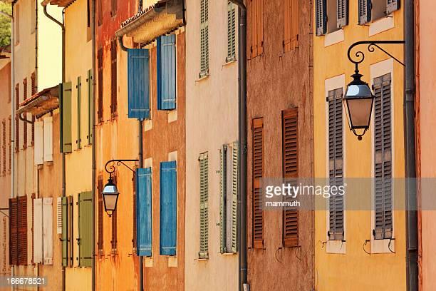 Coloridas casas de Provence