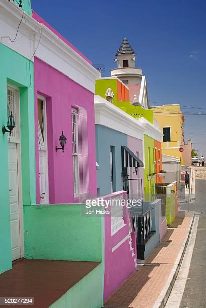 Colorful Houses on Street in Bo Kaap