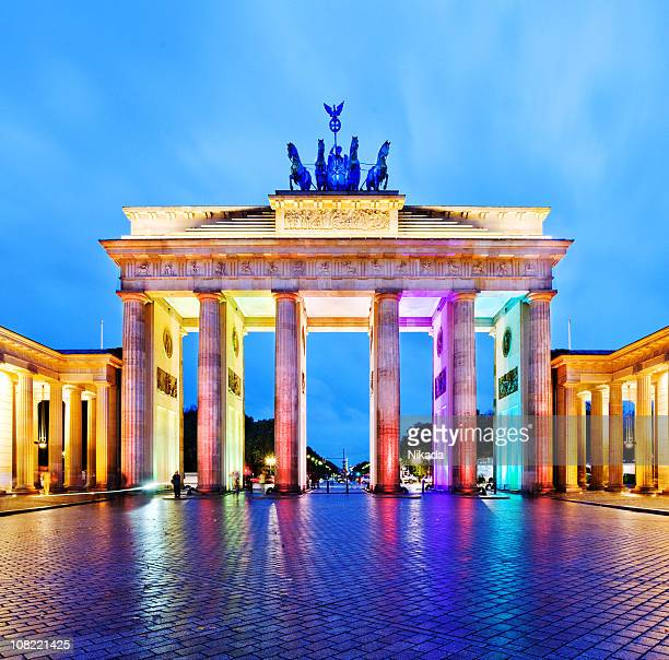 colorful Illuminated Brandenburg Gate