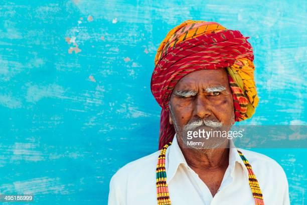Colorful India Senior Man Real People Portrait