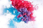 colorful ink in water background