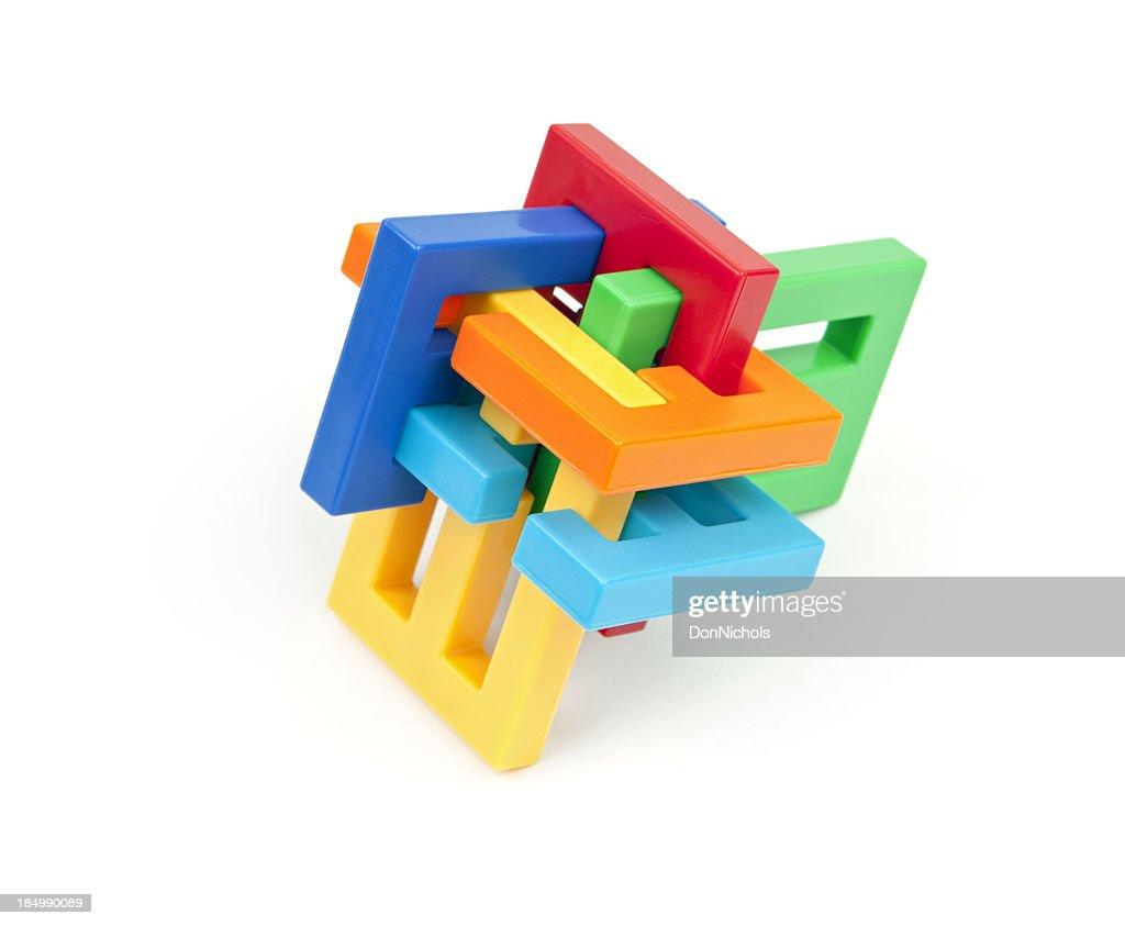 Colorful Interlocking Puzzle