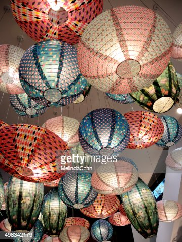 Colorful Korean lanterns
