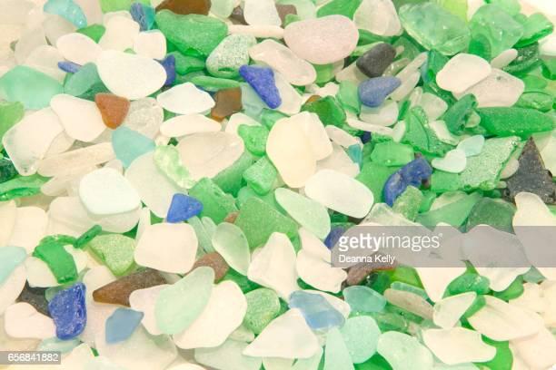 Colorful Lake Michigan Shoreline Beach Glass