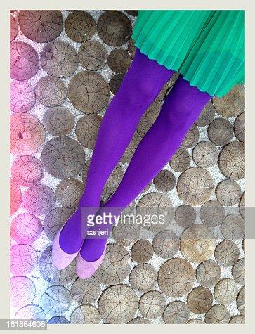 Colorful legs