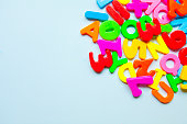 Colorful letters at frame