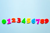 Colorful letters at numbers