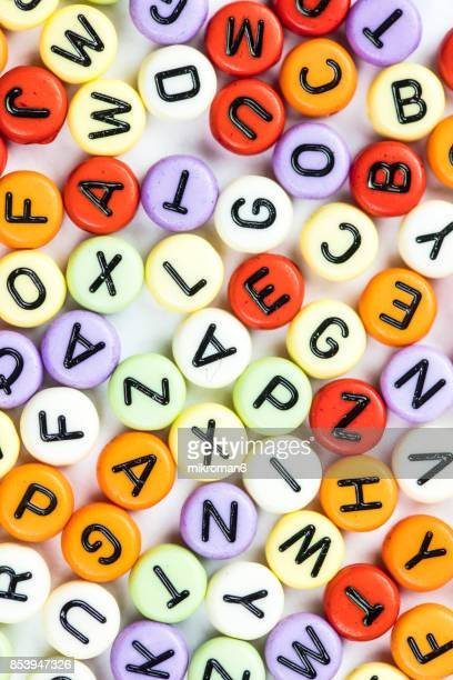 Colorful letters of the alphabet. The British alphabet letters