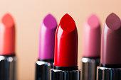 Lipsticks in macro