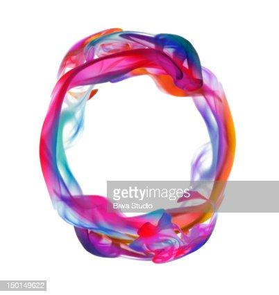 Colorful liquid circle