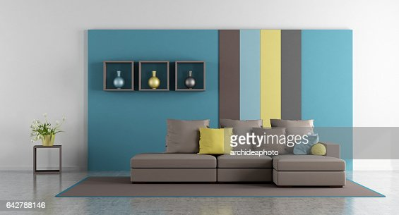 Colorful living room : Stock Photo