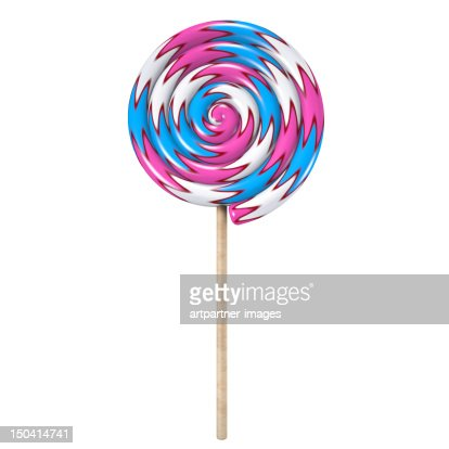 Colorful lollipop on a white background