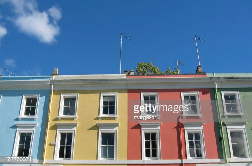 Colorful London houses