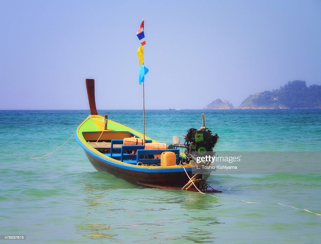 Colorful Long-Tail Boat in Phuket,Thailand