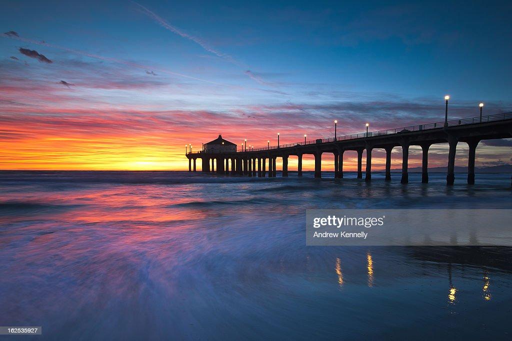 Colorful Manhattan Beach Pier