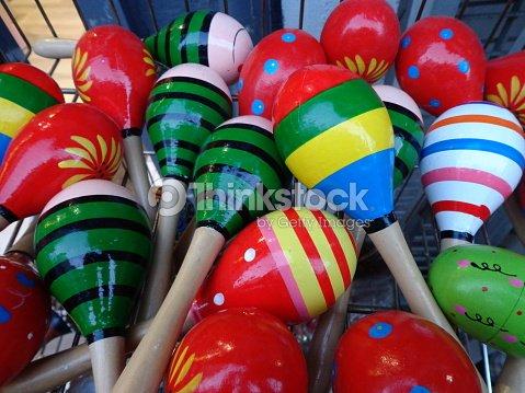 colorful maracas music tool stock photo thinkstock