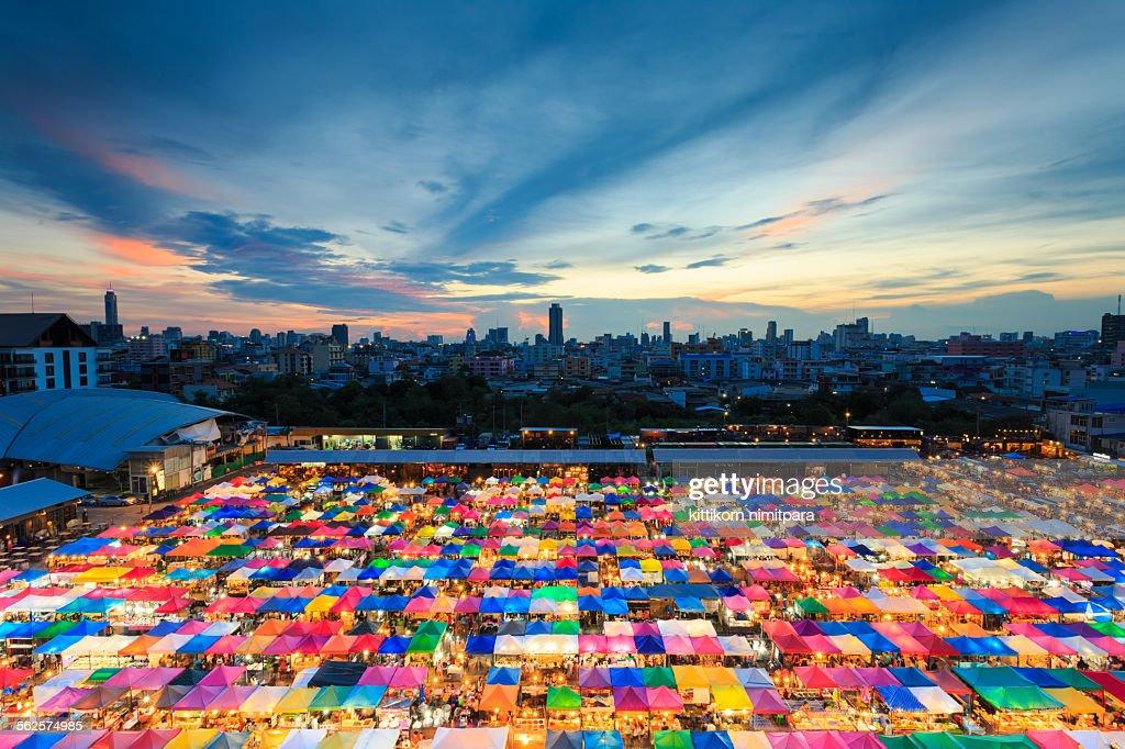 Colorful market,Bangkok