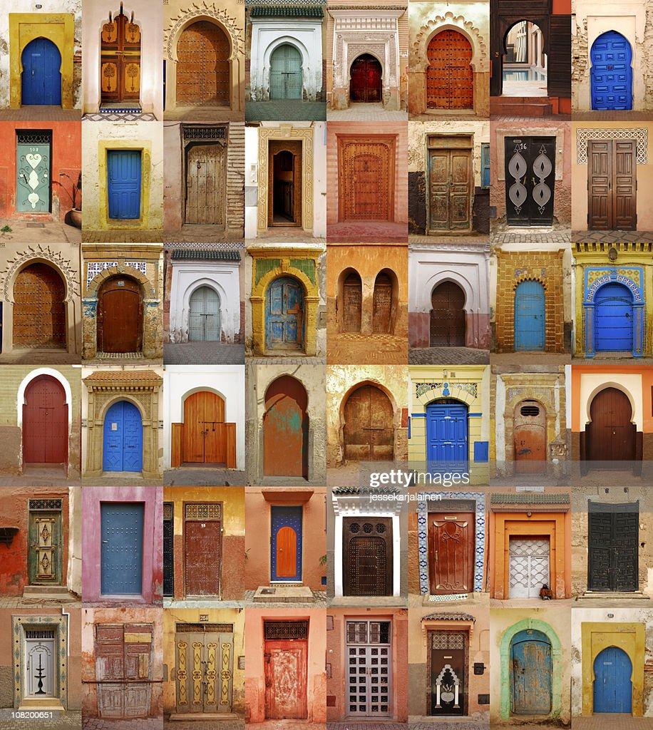 Colorful Moroccan doors