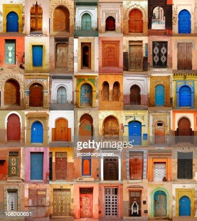 Maroc coloré portes