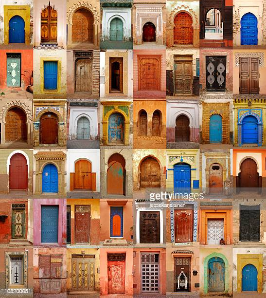 Colorful Moroccan doors