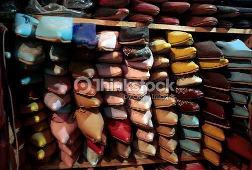 3c2d00b5d1b Colorful Moroccan shoes   Stock Photo