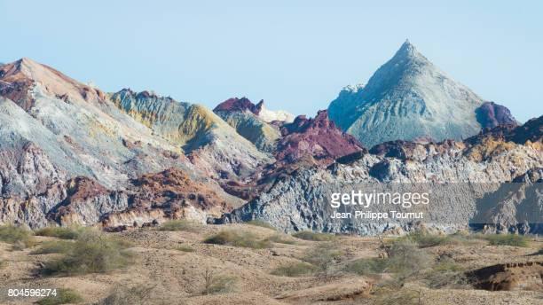 Colorful mountains of Hormuz Island, Persian Gulf, Hormozgan Province, Southern Iran