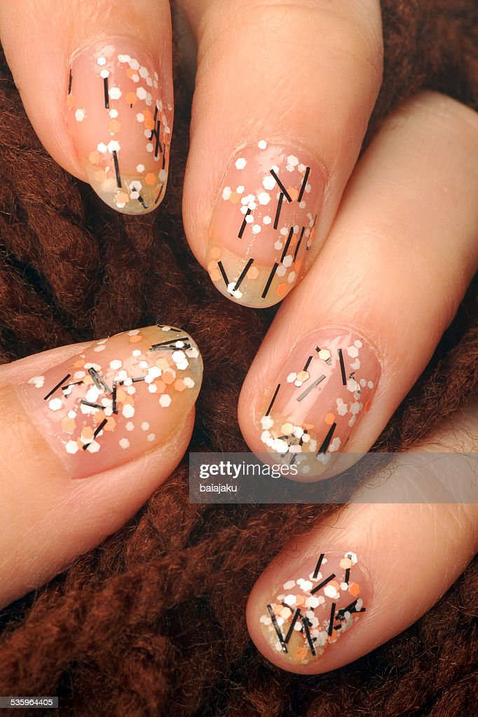 colorful nails : Stock Photo