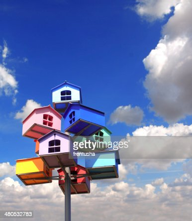 Colorful nesting boxes : Stockfoto