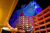 Reno Nevada downtown colors at night.