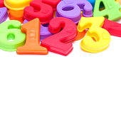 Colorful Number Magnet isolated on white background