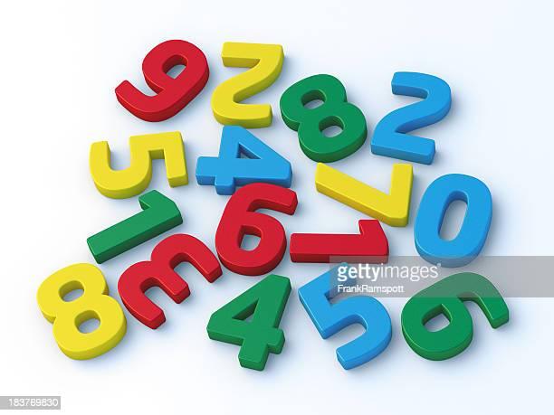 Numéros colorés au hasard classés