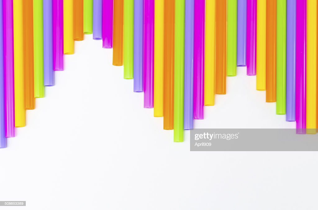 colorful of drinking straw background : Stock Photo