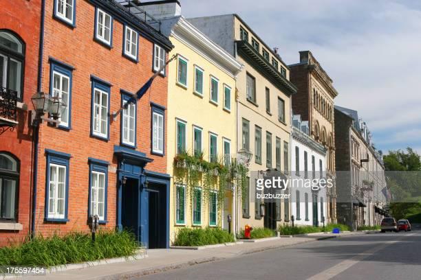 Colorés dans la vieille ville de Québec Touristical Street