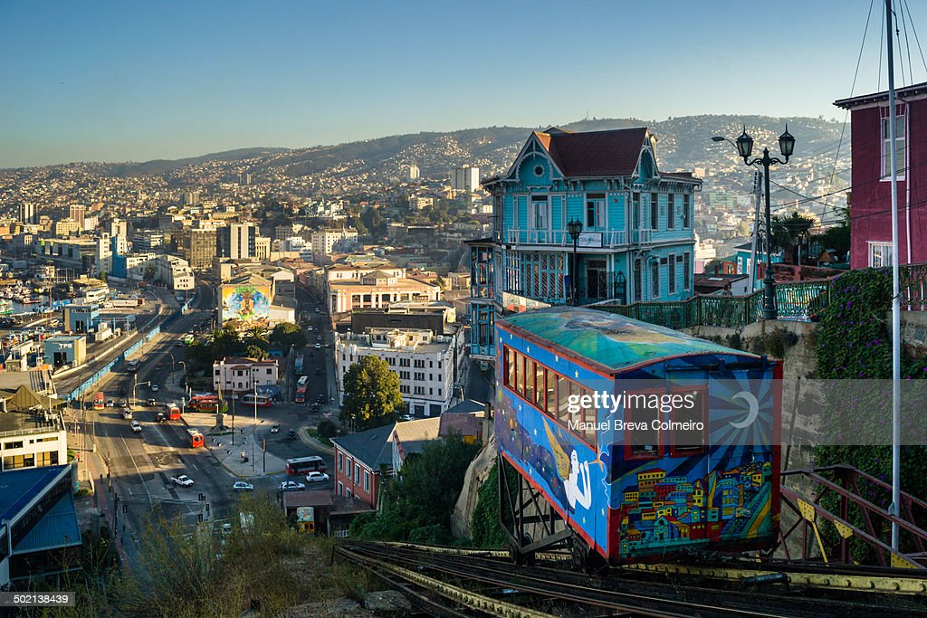Colorful or funicular lift to Cerro Alegre