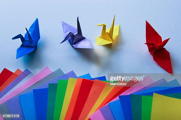 Colorful Origami and Origami crane