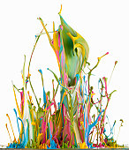 Colorful paint abstract