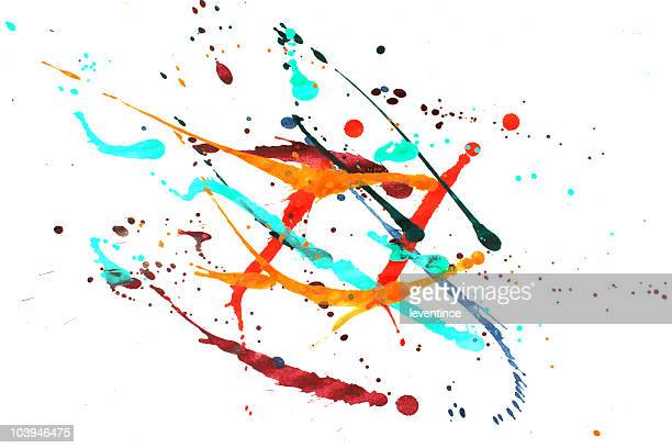 Peinture colorée splash