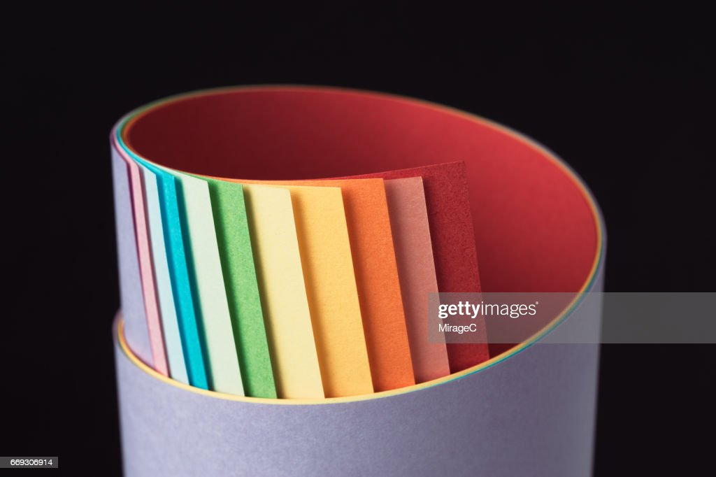 Colorful Paper Roll : Stock Photo