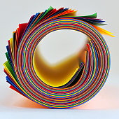 Colorful paper wheel