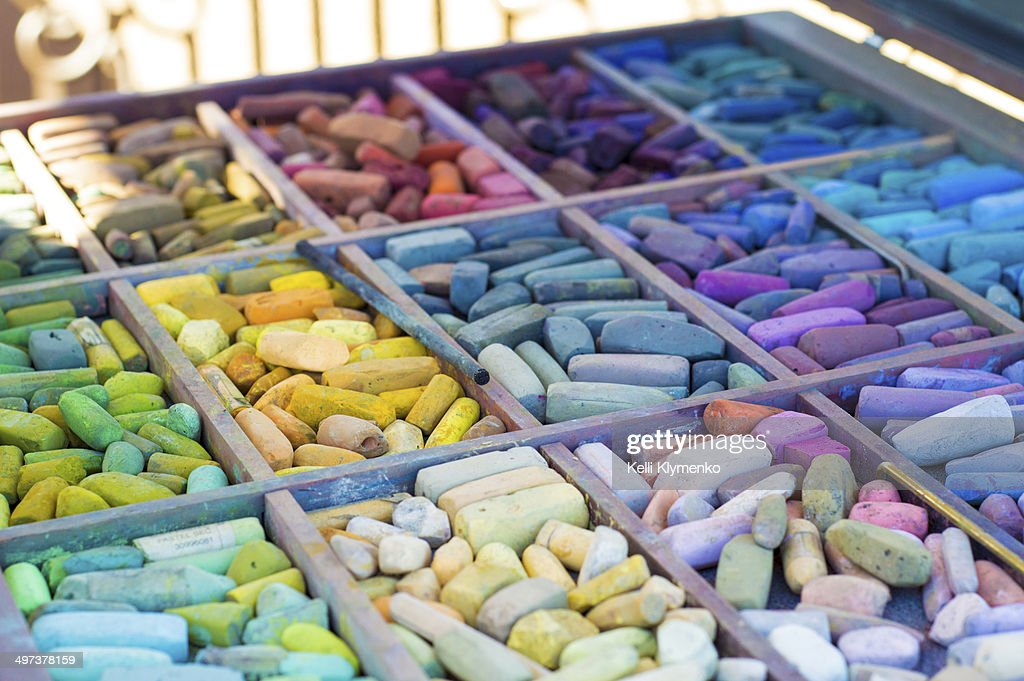 Colorful pastels : Stock Photo