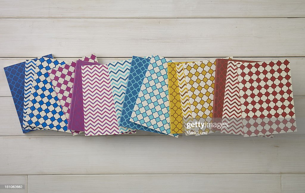Colorful pattern of notebooks : Stock Photo