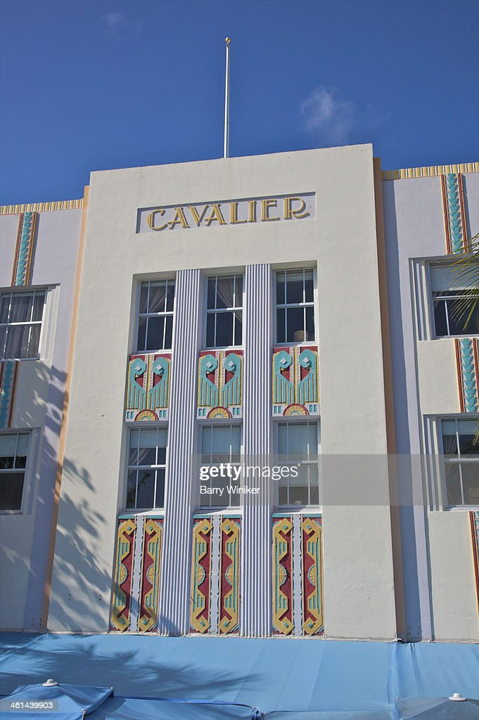 Colorful Patterns On Art Deco Facade Stock Photo Getty