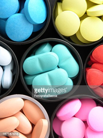 Colorful pills : Stock Photo