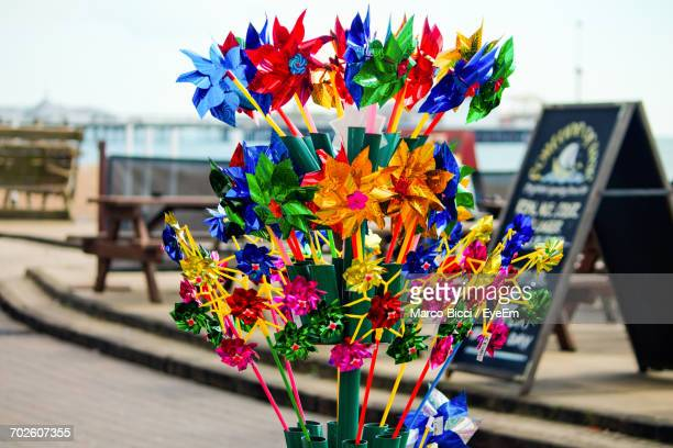 Colorful Pinwheel Toys On Street For Sale