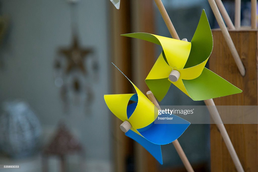 Colorful Pinwheel Windmills : Stock Photo