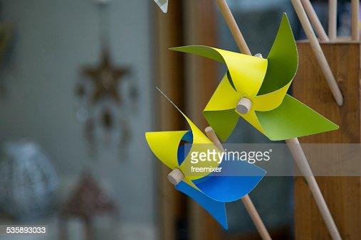 Colorful Pinwheel Windmills : Stockfoto