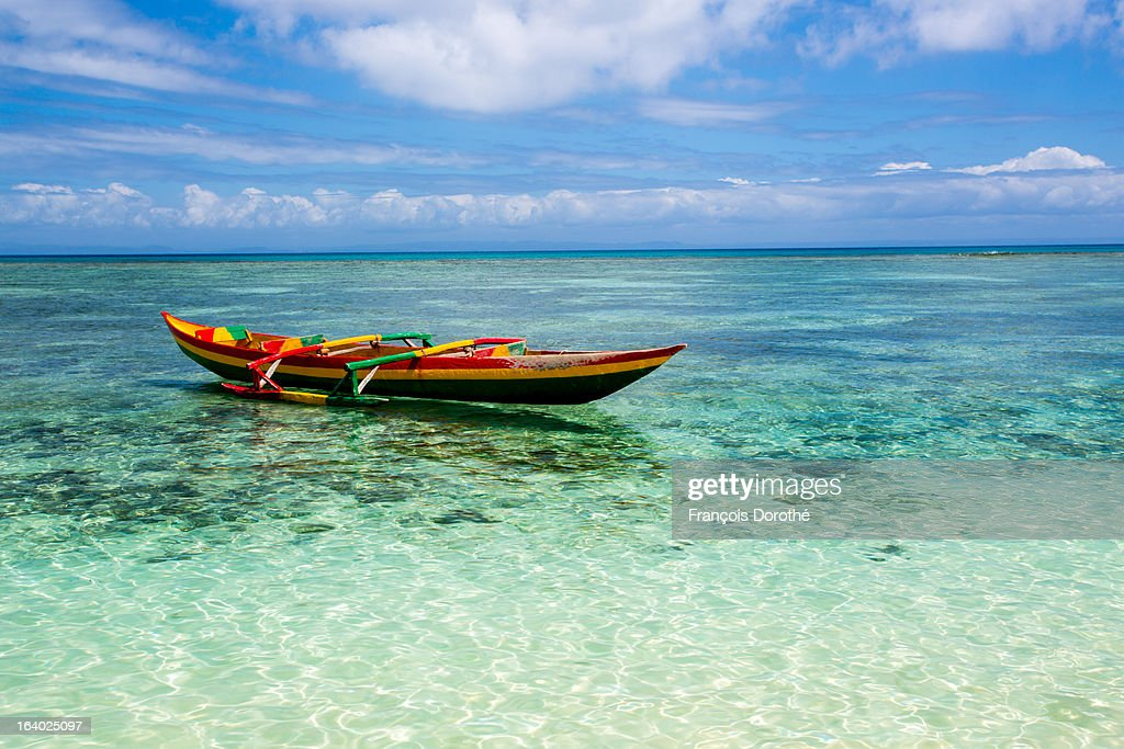Colorful pirogue